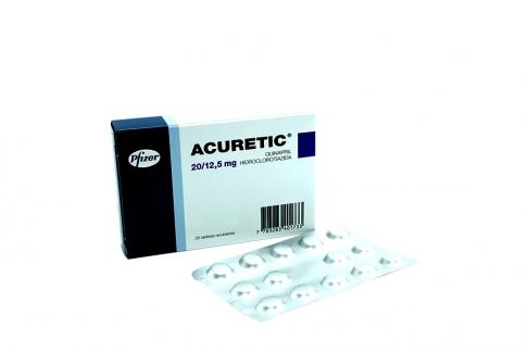 Acuretic 20 / 12.5 mg Caja Con 28 Tabletas Recubiertas Rx