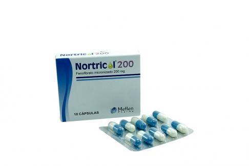 Nortricol 200 mg Caja Con 10 Cápsulas Rx4