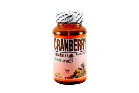 Cranberry Arándano Frasco Con 50 Perlas