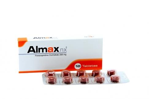 Almax NX 200mg Caja X 10 Tabletas Rx
