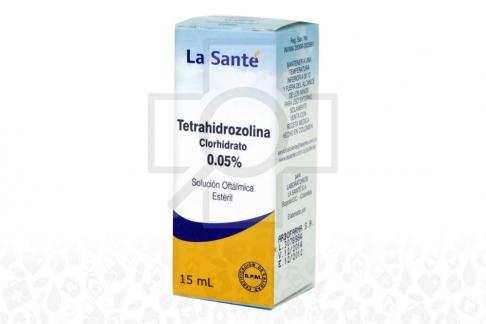 Tetrahidrozolina 0.05% Solución Oftalmica Caja Con Frasco Con 15 mL Rx