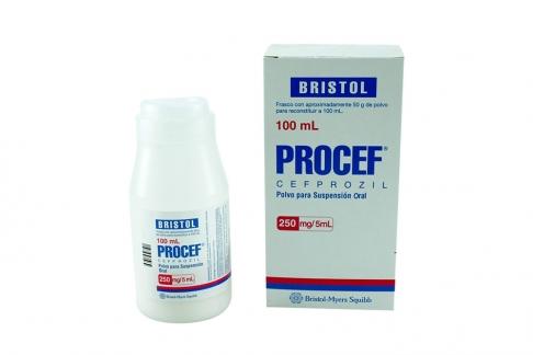 Procef Polvo Para Suspensión Oral 250 mg / 5 mL Caja Con Frasco Con 100 mL Rx2
