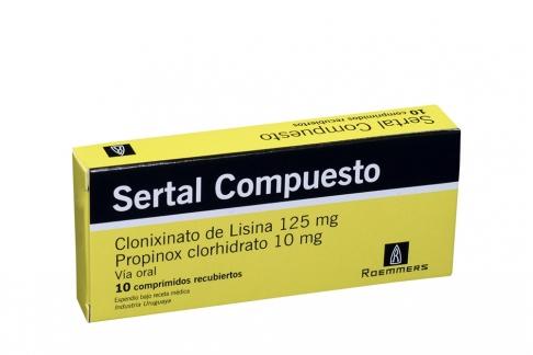 Sertal Compuesto 125 / 10 mg Caja Con 10 Comprimidos Recubiertos Rx