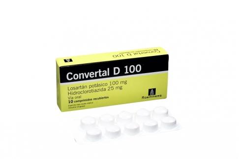 Convertal D 100 / 25 mg Caja Con 10 Comprimidos Rx