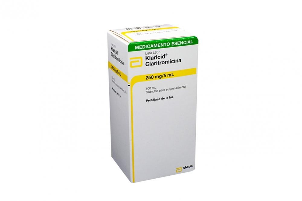 Klaricid Gránulos Para Suspensión 250 mg / 5 mL Caja Con Frasco 100 mL Rx2