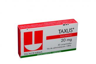 Taxus 20 mg Caja Con 30 Comprimidos Rx4