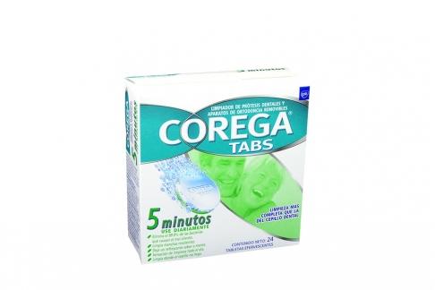 Corega Tabs Caja Con 24 Tabletas Efervescentes