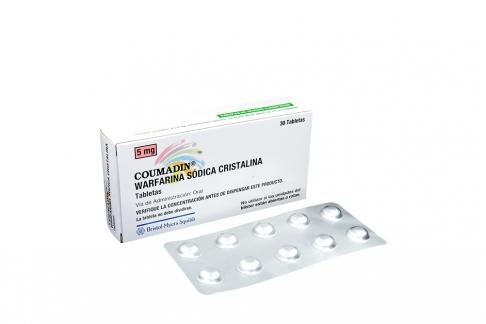 Coumadin 5 mg Caja Con 30 Tabletas Rx