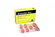 Amoxidal Dúo 875 mg Caja Con 14 Comprimidos Recubiertos RX2