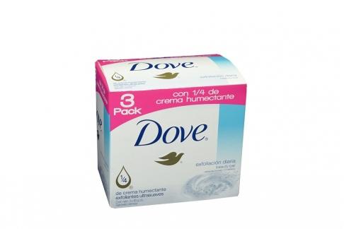 Jabón Dove Exfoliación Diaria Caja Con 3 Con 90g C/U