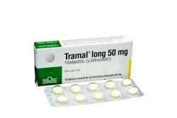 Tramal Long 50 mg Caja Con 10 Tabletas Recubiertas De Liberación Prolongada Rx