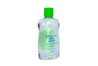 Aceite Johnson's Baby Con Aloe & Vitamina E Frasco Con 300 mL