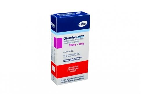 Olmetec Anlo 20 / 5 mg Caja Con 30 Tabletas Recubiertas Rx4
