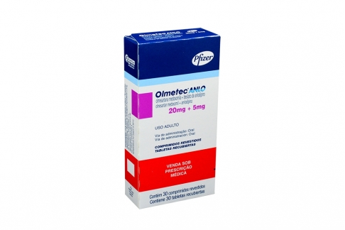 Olmetec Anlo 20 / 5 mg Caja Con 30 Tabletas Recubiertas Rx4 Rx1