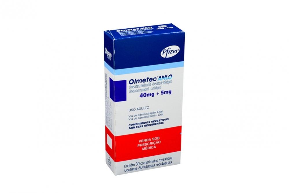 Olmetec Anlo 40 / 5 mg Caja Con 30 Comprimidos Revestidos Rx4 Rx1