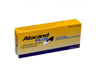 Atacand Plus 16 / 12.5 mg Caja Con 30 Comprimidos Rx4