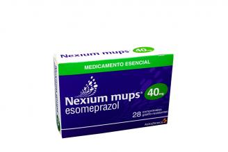 Nexium Mups 40 mg Caja Con 28 tabletas  Rx