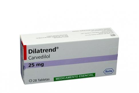 Dilatrend 25 mg Caja Con 28 Tabletas Rx4