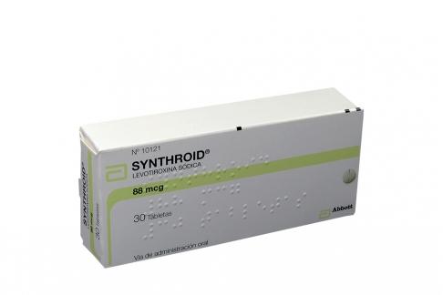 Synthroid 88 mcg Caja X  30 Tabletas Rx