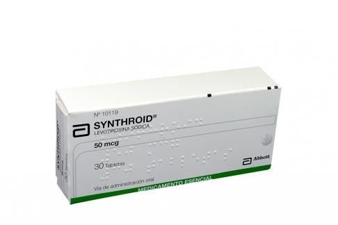 Synthroid  50 mcg Caja X 30 Tabletas RX