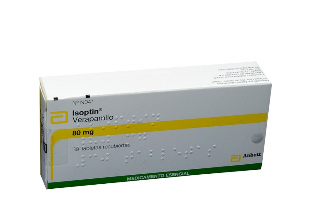 Isoptin 80 mg Caja Con 30 Tabletas Recubiertas Rx4