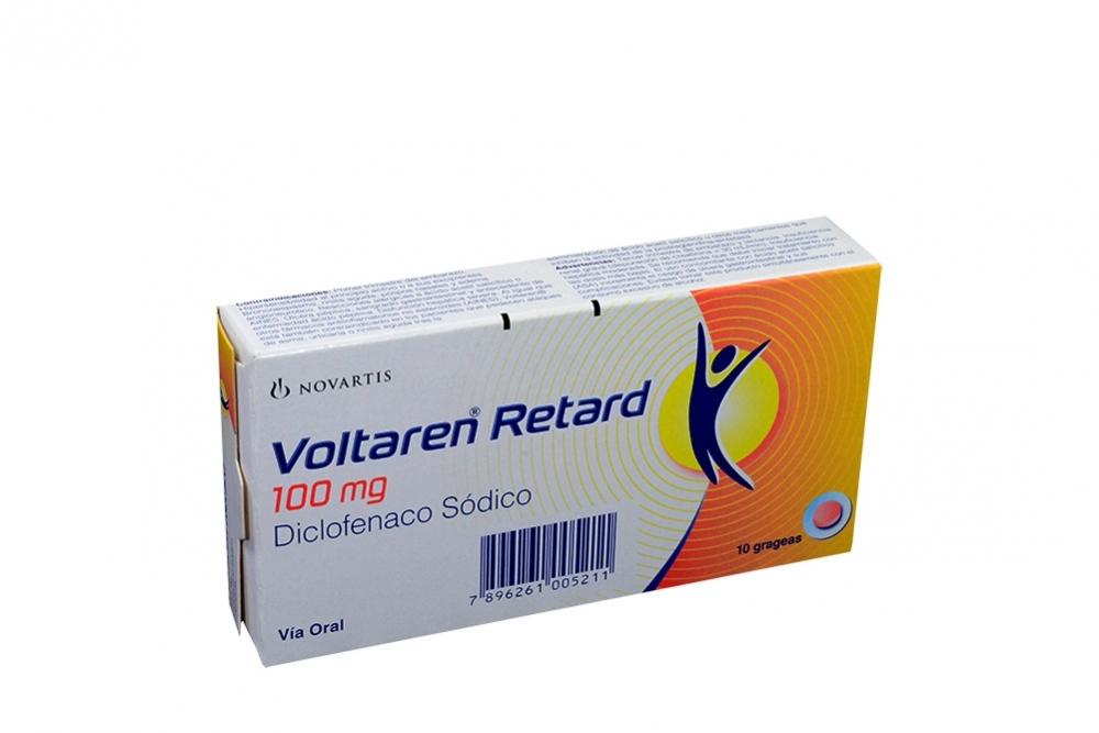 Voltaren Retard 100 mg Caja Con 10 Grageas Rx4
