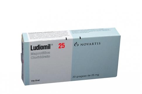 Ludiomil 25 Mg Caja Con 20 Grageas Rx