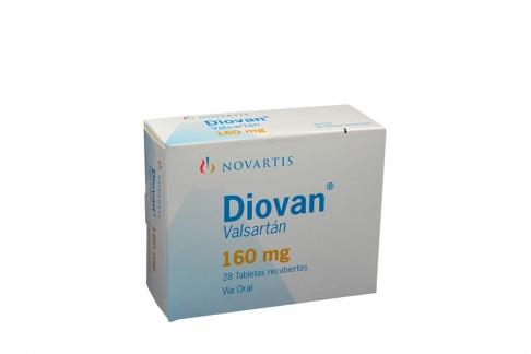Diovan 160 mg Caja Con 28 Tabletas Rx4