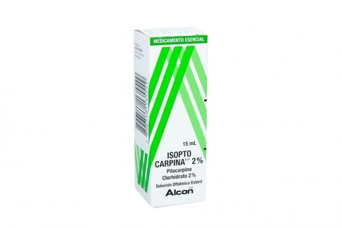 Isopto Carpina 2 % Caja Con Frasco Gotero Con 15 mL Rx