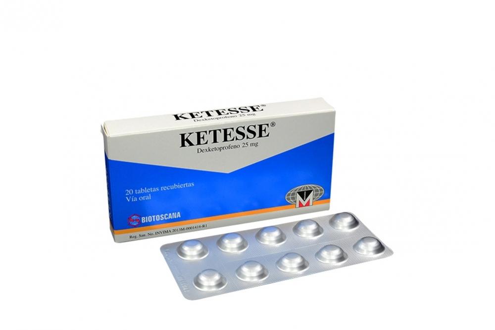 Ketesse 25 mg Caja x 20 Comprimidos Rx