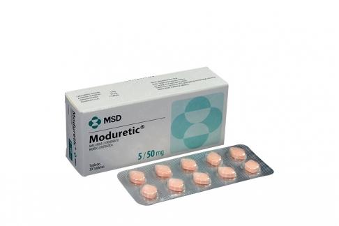 Moduretic 5 / 50 mg Caja x 30 Tabletas Rx