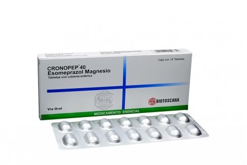 Cronopep 40 mg Caja Con 14 Tabletas Rx