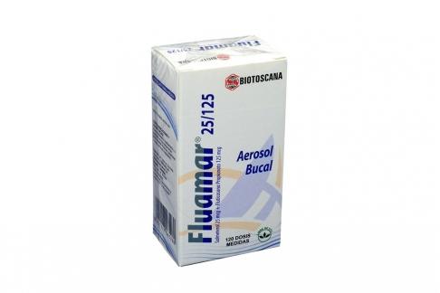 Fluamar 25/125 mcg Caja Con Aerosol Con 120 Dosis Rx