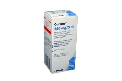 Curam 250 mg / 5 mL Frasco Con 12.5 g De Polvo Para 100 mL De Suspensión Rx2