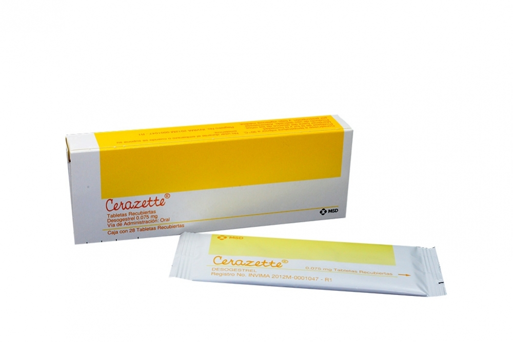 Cerazette 0.075 mg Caja Con 28 Tabletas Recubiertas Rx Rx1