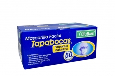 Tapabocas Alfa Elástico Blanco Caja Con 50 Unidades