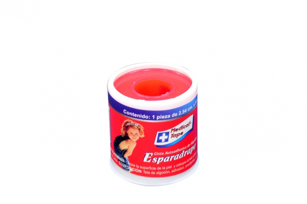 "Cinta Microporosa Medical Tape 1"" x 1 Yarda Estuche Con 1 Unidad"