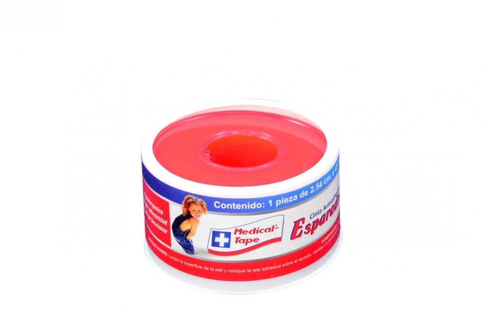 """Cinta Microporosa Medical Tape 1"""" x 5 Yardas Estuche Con 1 Unidad"""