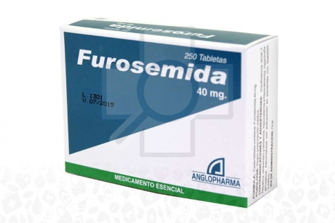FUROSEMIDA 40 MG X 250 TABLETAS Rx
