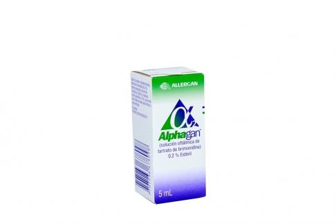 Alphagan 0.2 % Gotas Oftálmicas Caja Con Frasco 5 mL Rx Rx1
