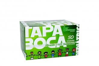 Tapabocas Pediátrico Rosado Inverfarma Caja Con 50 Unidades