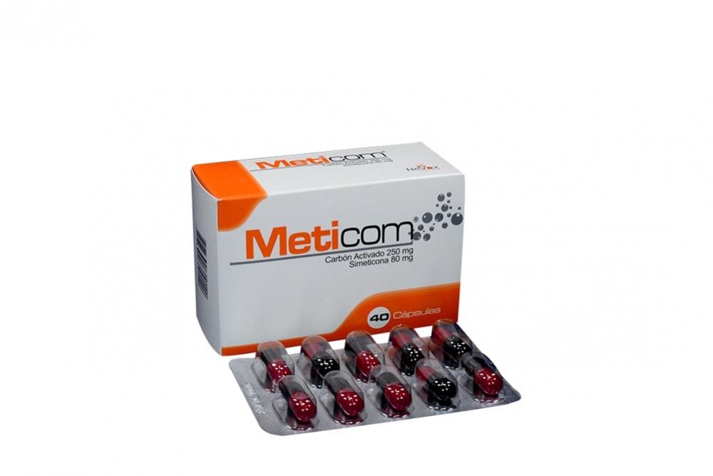 Meticom 250mg / 80mg Caja X 40 Cápsulas