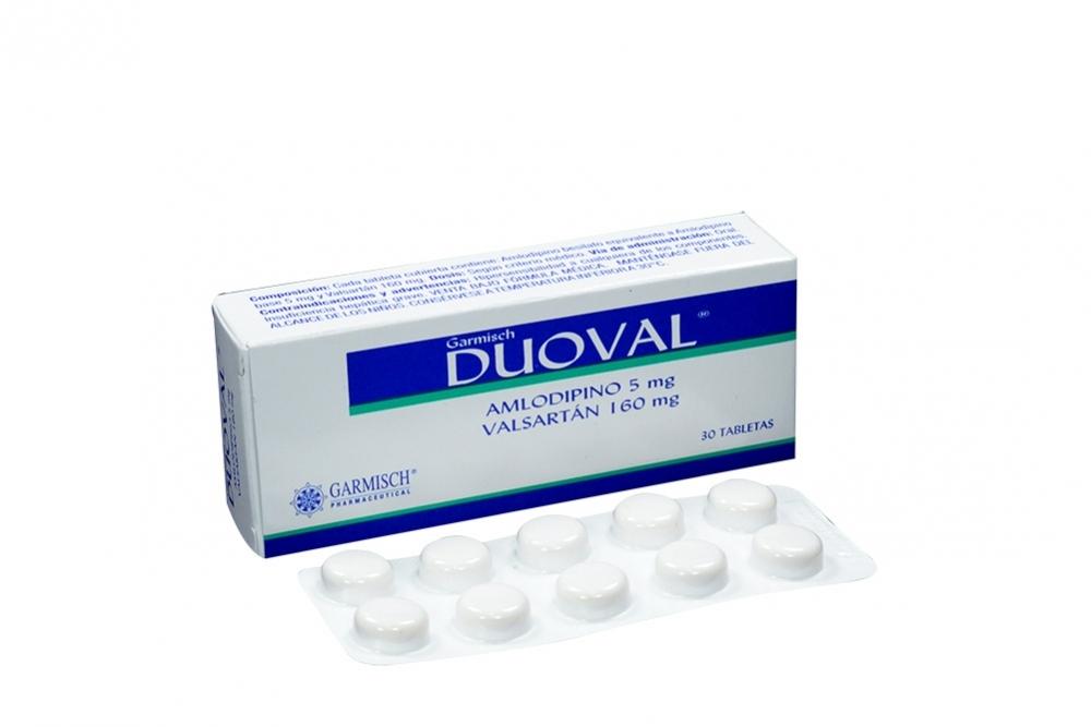 Duoval 5 / 160 mg Caja Con 30 Tabletas Rx4