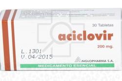 Aciclovir 200 mg Caja x 30 Tabletas - Rx