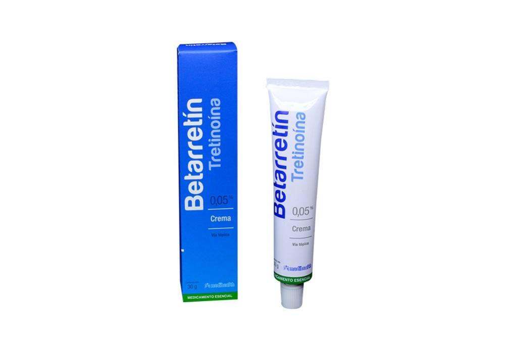 Betarretín Crema 0.05 % Caja Con Tubo Con 30 g Rx