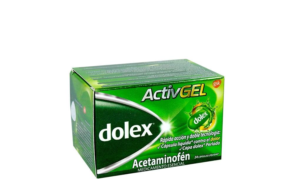 Dolex Activgel 500 mg Caja Con Frasco Con 24 Cápsulas Liquidas