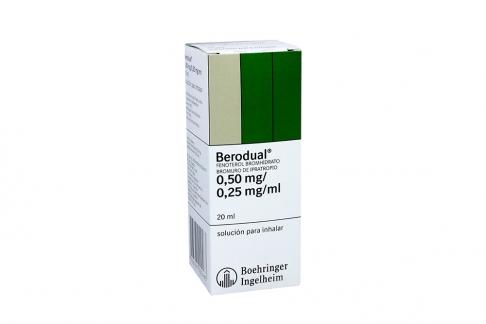 Berodual 0.50 mg / 0.25 mg / mL Solución Para Inhalar Caja Con Frasco Con 20 mL Rx
