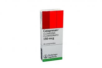 Catapresan 150 mcg Caja x 20 Comprimidos Rx