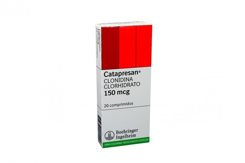 Catapresan 150 mcg Caja Con 20 Comprimidos Rx