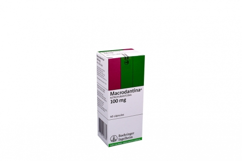 Macrodantina 100 mg Caja x 40 Cápsulas Rx2